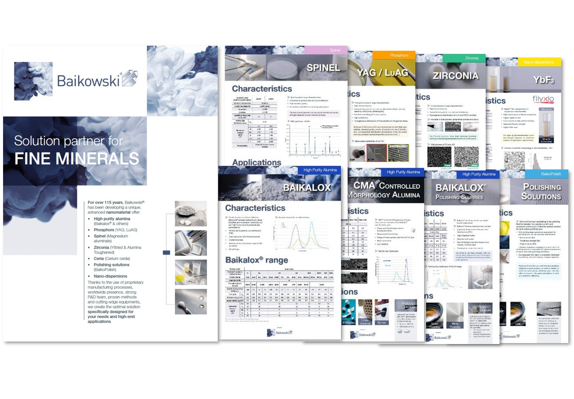 Baikowski brochure and leaflets new in 2020